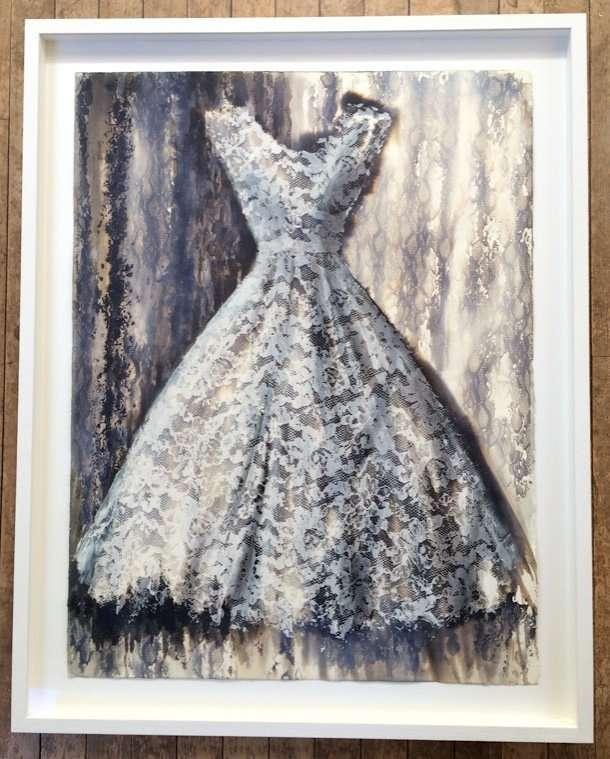 Aurelia's Dress- framed for NOA exhibition