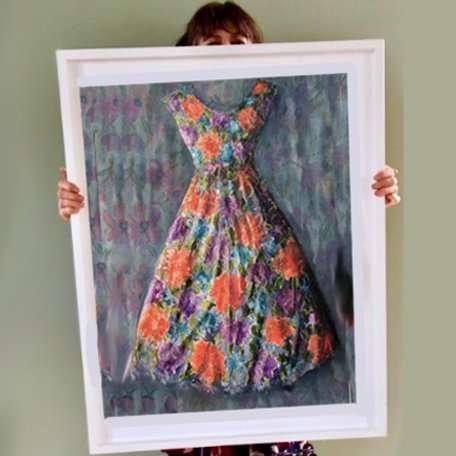 Mimi's Dress- R.I. watercolours 2019