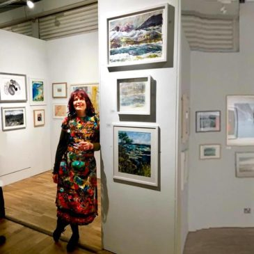 Royal Watercolour Society private view