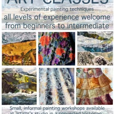 Art classes in experimental painting techniques at my studio –  all  levels